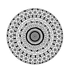 round mandala ethnic decorative ornament vector image vector image