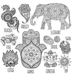 Set of symbols used in mihendi vector