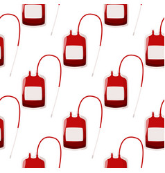 A blood donation bag seamless pattern medical vector