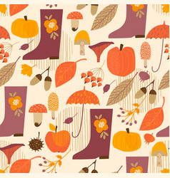 Abstract autumn seamless pattern vector