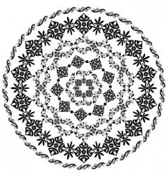 abstract circular pattern of arabesques vector image
