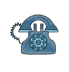 Antique telephone isolated vector