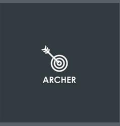 arrow and target symbol design vector image