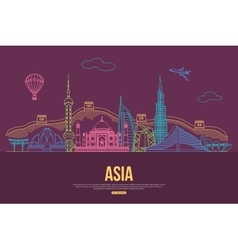 Asia travel background with place for text vector