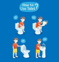 Baboy using toilet vector