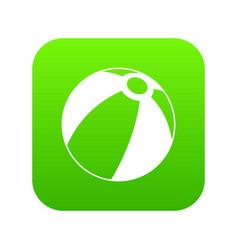 beach ball icon digital green vector image