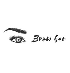 beauty care beautiful hand drawing eyebrows vector image