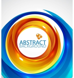 blue and orange swirl background vector image