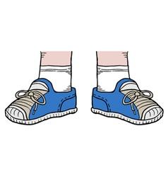 Blue shoes vector