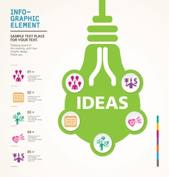 BULB ICON WITH IDEA CONCEPT INFO GRAPHIC vector image