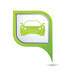 car GREEN pointer vector image