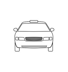 car linear icon taxi vector image