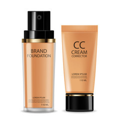 Cc cream foundation realistic cosmetics product vector