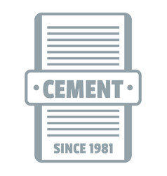 Cement logo gray monochrome style vector
