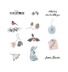 christmas cute cartoon clipart with vector image