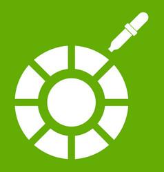color picker icon green vector image