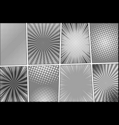 comic book page monochrome template vector image