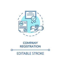 Company registration concept icon vector