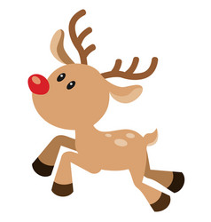 cute red nosed reindeer vector image