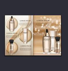 Design cosmetics product brochure template vector