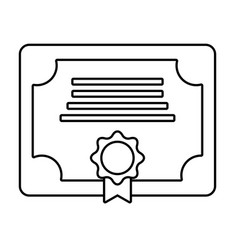 diploma isolated icon vector image