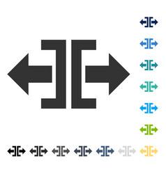 Divide horizontal direction icon vector