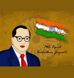 Dr b r ambedkar background vector