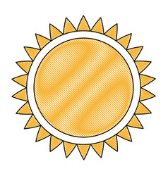 Drawing sun solar energy environmental renewable vector