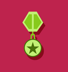 Flat icon design collection military medal vector
