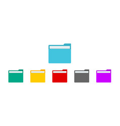 folder with file for desktop computer icon vector image