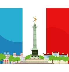 French Bastille Design vector image