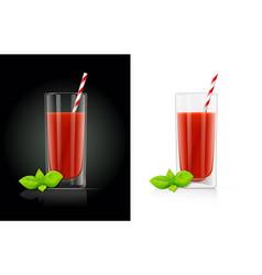 fresh tomato juice glass vector image