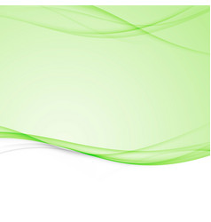 green bright abstract modern swoosh wave border vector image