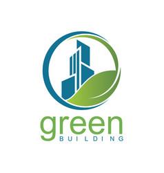 Green building logo vector