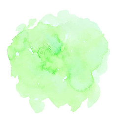 green watercolor texture vector image