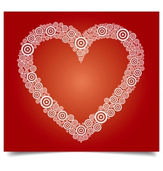 Heart white circle vector