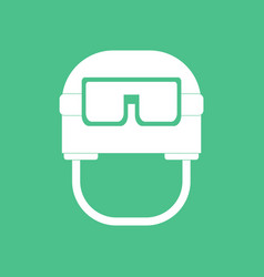 Icon military helmet with goggles vector