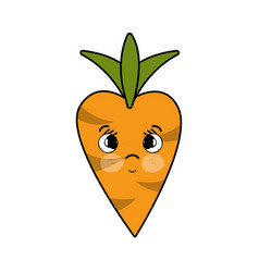 Kawaii cute sad carrot vegetable vector
