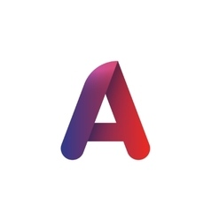 Letter a logo element template violet red vector image vector image