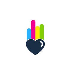 Love paint logo icon design vector