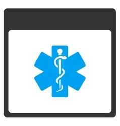 Medical Life Star Calendar Page Toolbar vector