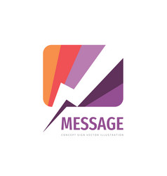 message concept logo template design vector image