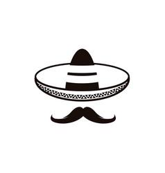 mexico hat icon vector image