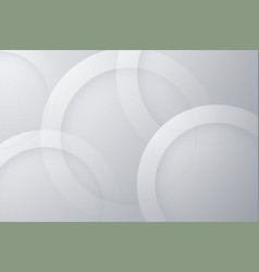 Modern gray backgrounds abstract 3d circle vector