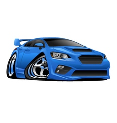 Modern Import Sports Car vector