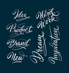 new and idea hand written typography vector image vector image