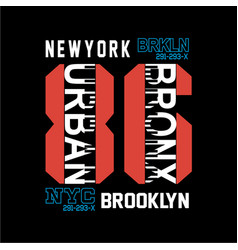 new york brooklyn t shirt graphic art vector image