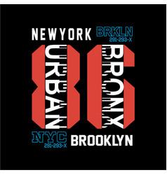 new york brooklyn t shirt graphic art vector image