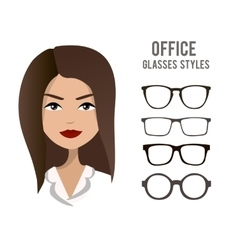 Office glasses styles template with an vector image