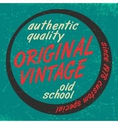 Original vintage print vector